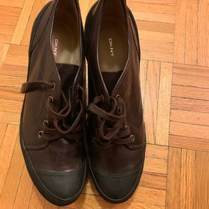 DKNY Leather Booties Size 10- runs small